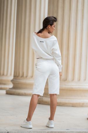 Set Undone Bluza si Pantalon Scurt OFF White [3]
