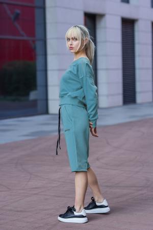 Set Undone Bluza si Pantalon Scurt Dusty Turquoise [6]