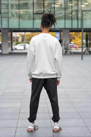 Set West Cartel Bluza Oversized si Pantalon lejer alb/negru [2]