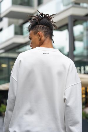 Set West Cartel Bluza Oversized si Pantalon lejer alb/negru [9]