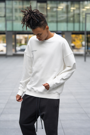 Set West Cartel Bluza Oversized si Pantalon lejer alb/negru [5]
