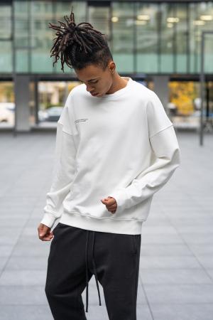 Bluza West Cartel Oversized alb [1]