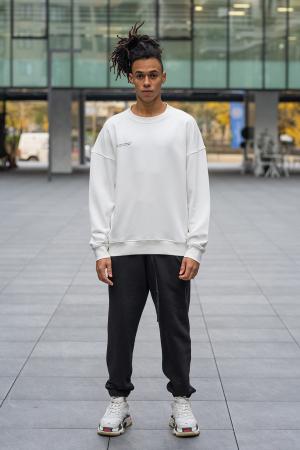 Bluza West Cartel Oversized alb [6]
