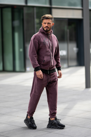 Set Velvet Zip California hanorac cu fermoar si pantalon Malaga [3]