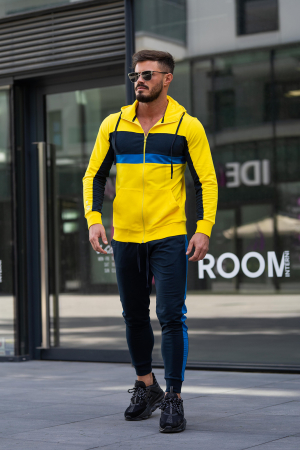 Trening bumbac Care-Fit Yellow/Navy [3]