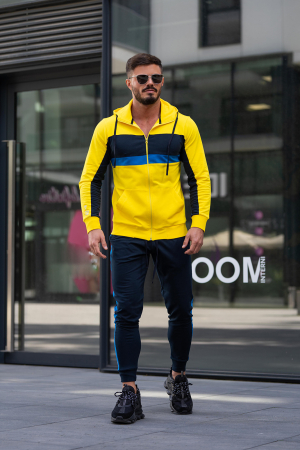 Trening bumbac Care-Fit Yellow/Navy [2]