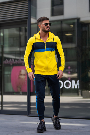 Trening bumbac Care-Fit Yellow/Navy [1]