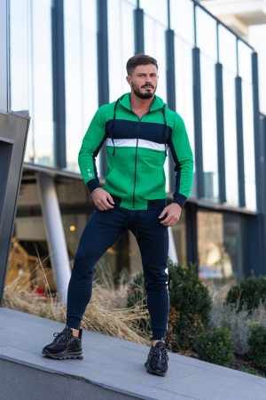 Trening bumbac Care-Fit Green/Navy [1]
