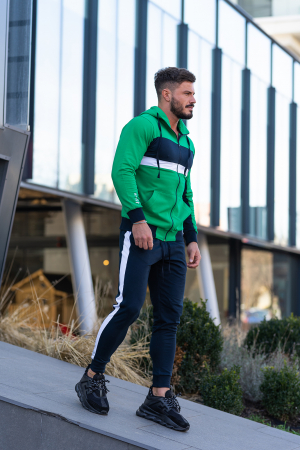 Trening bumbac Care-Fit Green/Navy [2]