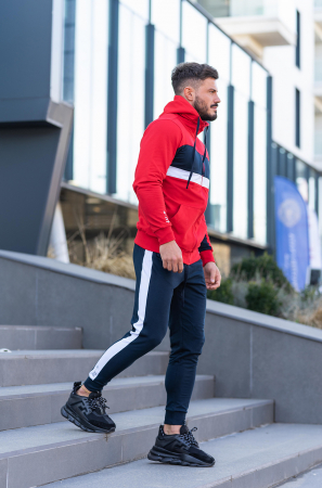 Trening bumbac Care-Fit True Red/Navy [2]