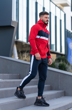 Trening bumbac Care-Fit True Red/Navy [3]