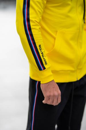 Trening Bumbac Stripe-Fit cu gluga Yellow [6]