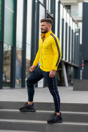 Trening bumbac Stripe-Fit Yellow/Navy [2]