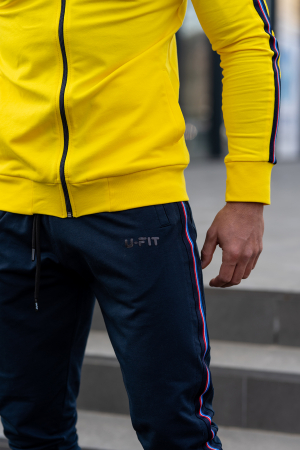Trening bumbac Stripe-Fit Yellow/Navy [6]