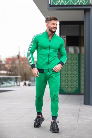 Trening bumbac Stripe-Fit Verde [5]