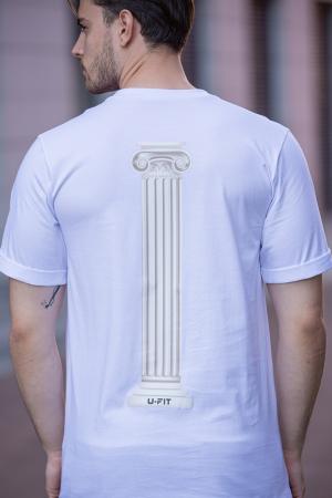 Tricou Barbati Column White [8]