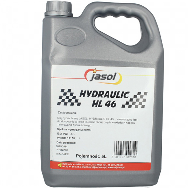 Ulei hidraulic Jasol Hydraulic HL 46 - 5 Litri [0]