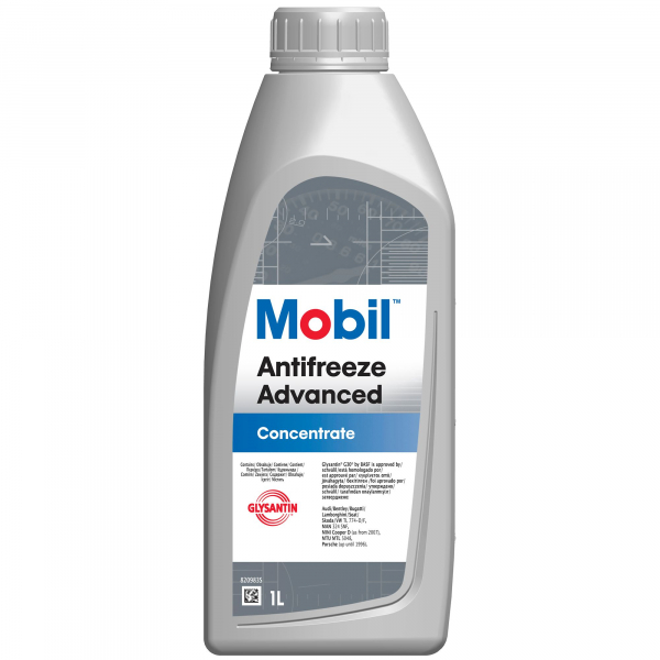 Antigel concentrat rosu/roz Mobil Antifreeze Advanced G12/G12+ - 1 Litru 0