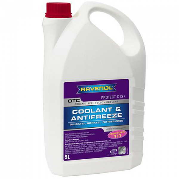 Antigel rosu concentrat Ravenol OTC - 5 Litri 0
