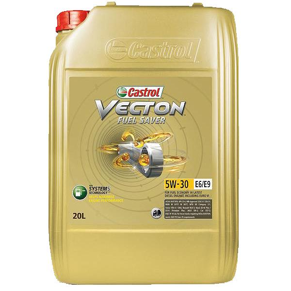 Castrol Vecton Fuel Saver 5W30 E6/E9 - 20 Litri 0