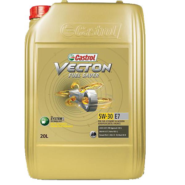 Castrol Vecton Fuel Saver 5W30 E7 - 20 Litri 0
