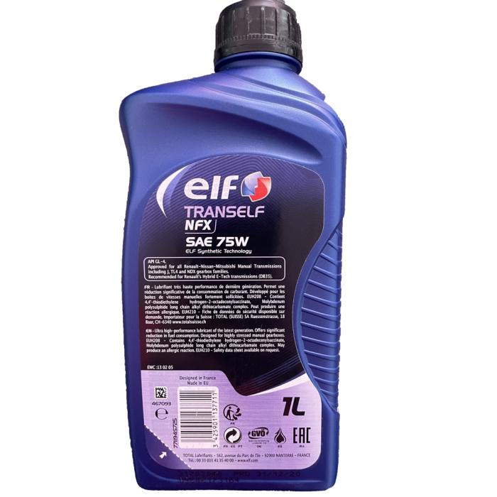 Ulei transmisie ELF Tranself NFX 75W - 1 Litru 1