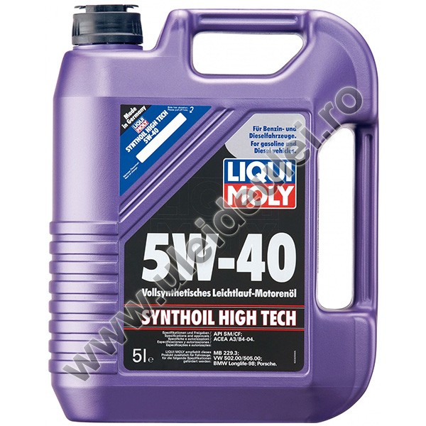 Liqui Moly Synthoil High Tech 5W40 - 5 Litri 0
