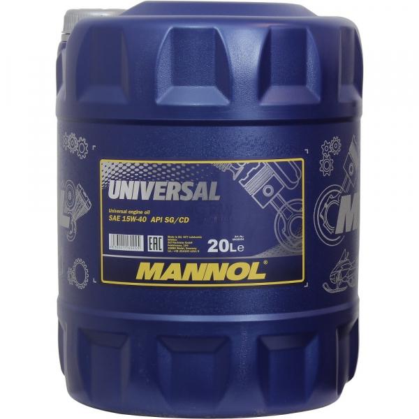 MANNOL UNIVERSAL 15W-40 - 20 Litri 0