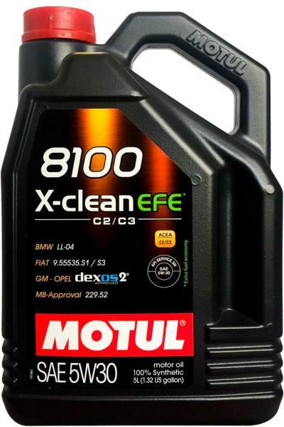 Motul 8100 X-CLEAN EFE 5W30 - 5 Litri 0