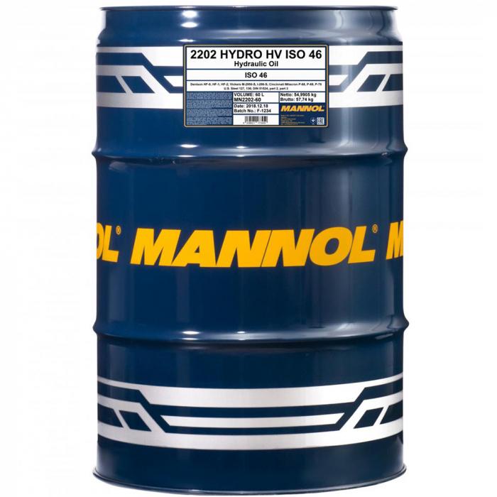 Ulei hidraulic MANNOL Hydro HV ISO 46 - 208 Litri [0]