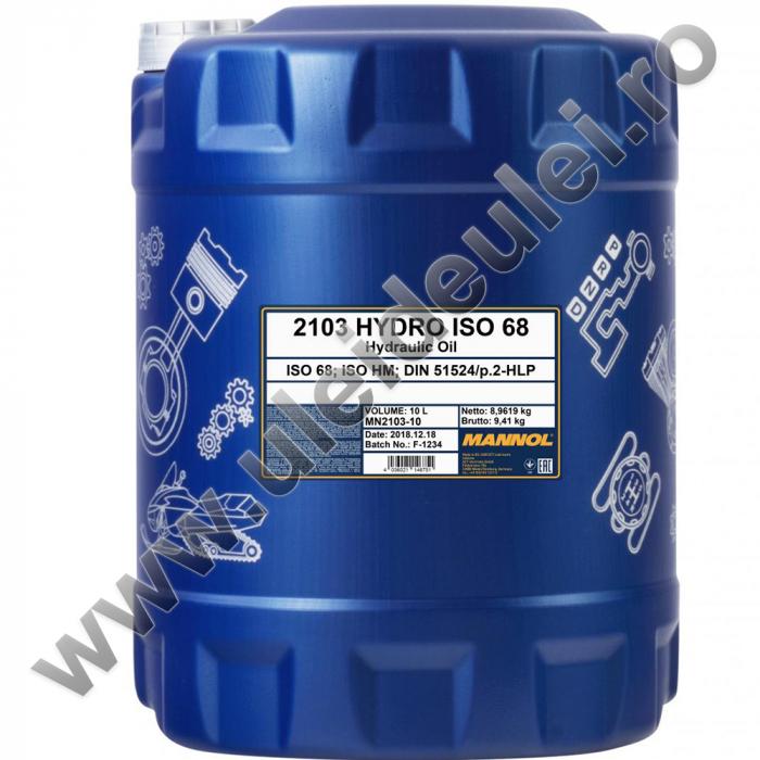 Ulei hidraulic MANNOL Hydro ISO 68 - 20 Litri 0