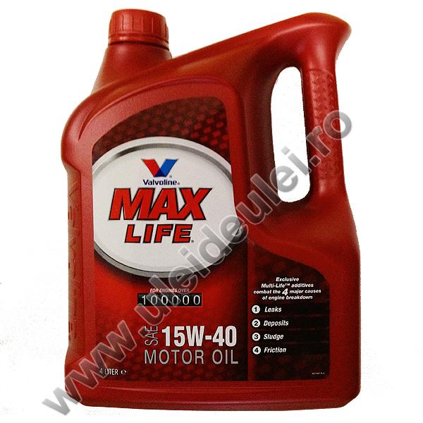 Valvoline Max Life 15W40 - 4 Litri 0
