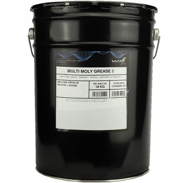 Vaselina cu litiu si bisulfura de molibden Wolf Multi Moly Grease 2 - 18 KG 0