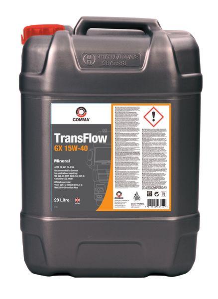 COMMA TRANSFLOW GX 15W40 20L 0