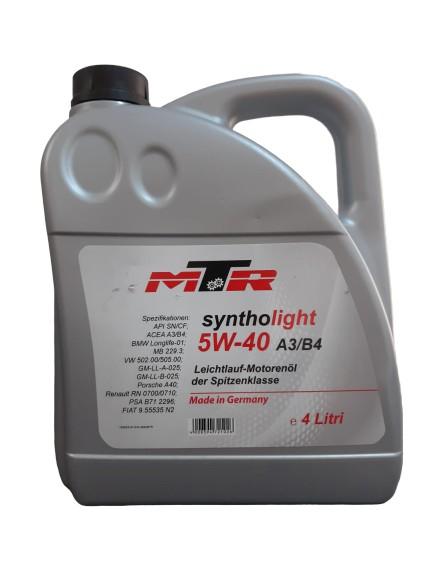 MTR Syntholight BMW 5W40 4L 0