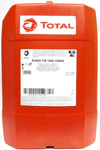 Total Rubia 7400 15W40 20L 0