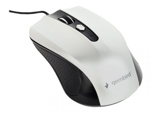 GEMBIRD MUS-4B-01-BS Gembird optical mouse MUS-4B-01-BS, 1200 DPI, USB, Black/silver [0]