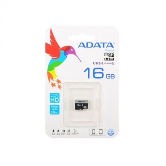 Micro Secure Digital Card ADATA 16Gb, AUSDH16GUICL10-R ,Clasa 10 (pentru telefon) [1]