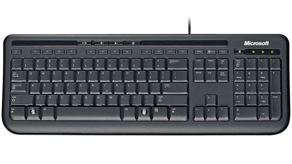 Tastatura Microsoft Wired Keyboard 600, USB, Negru 0