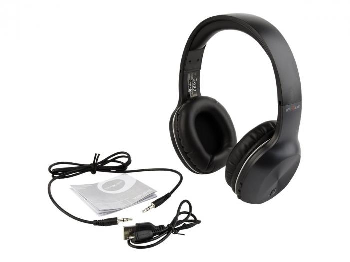 Casti Bluetooth  Gembird MIAMI microphone & stereo black color 2