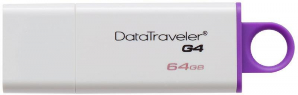 Memorie USB Kingston DataTraveler DTIG4, 64GB, USB 3.0, Alb/Violet 0