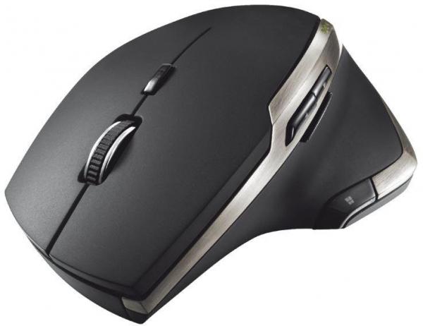 Mouse Trust Evo Advanced, Wireless, Negru 0