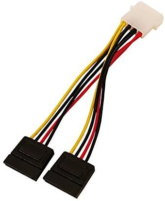 4WORLD 06858-06858 internal power cable 0.15 m Power Cable MOLEX- 2x SATA F 15cm 0