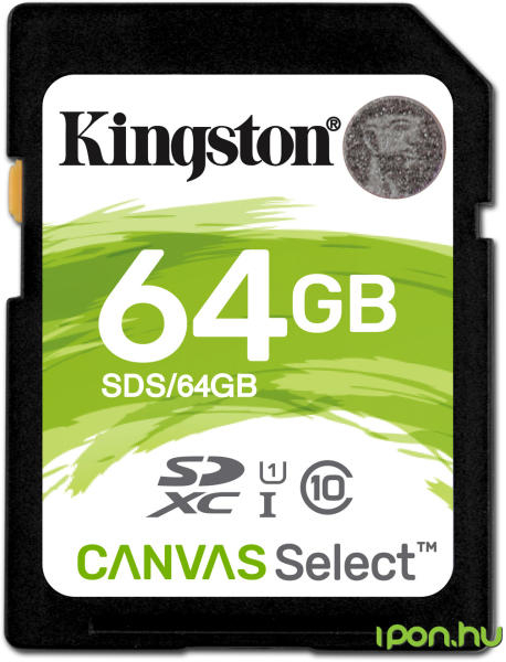 Card de memorie Kingston SDXC, 64GB, Class 10, UHS-I 0