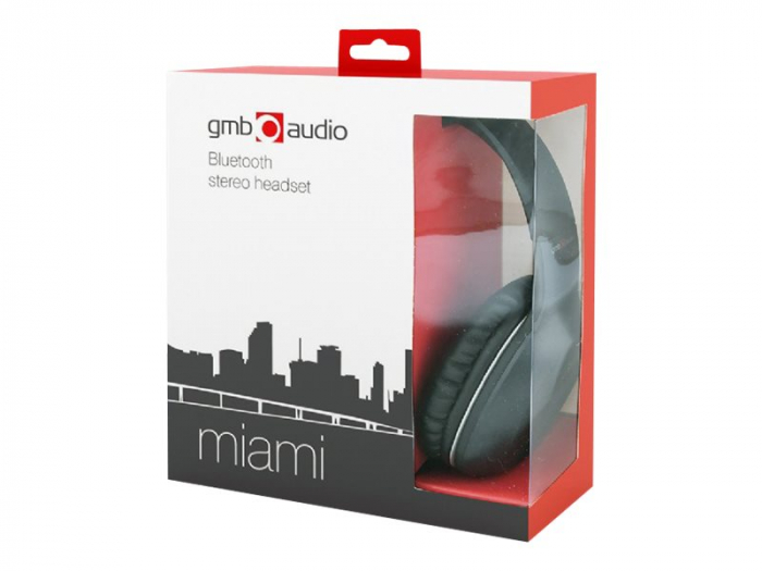 Casti Bluetooth  Gembird MIAMI microphone & stereo black color 0