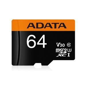 Card de memorie ADATA PremierPRO 64GB V30G, 95R/90W, micro UHS-I U3 CL10 +Adaptor 0