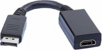 Cablu video Art Display Port tata la HDMI mama 15 cm Negru dp/hd al-oem-84 0