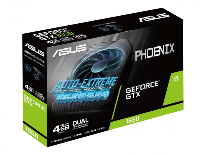 ASUS Phoenix NVIDIA GeForce GTX 1650 OC Edition Gaming Graphics Card PCIe 3.0 4GB GDDR6 0