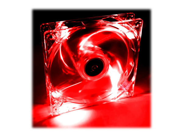 AKY AW-12A-BR Akyga System fan 12 cm LED red AW-12A-BR Molex 120x120 mm 0