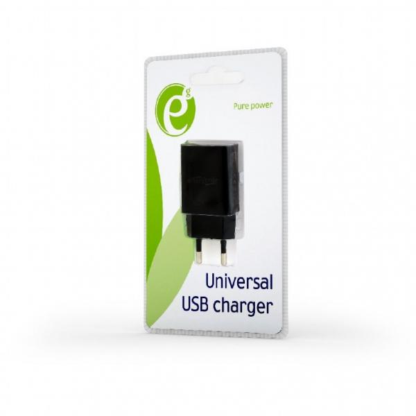 EG-UC2A-03 Universal USB charger, 2.1 A, black 0